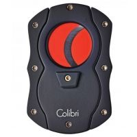 Colibri Cut Cigar Cutter - Black with Red Blades