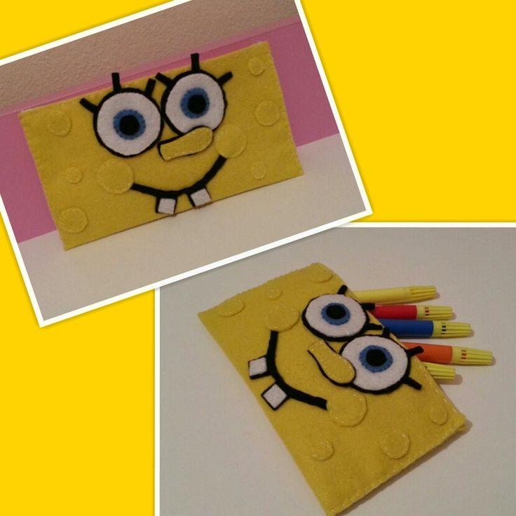 Diy spongebob pencilcase