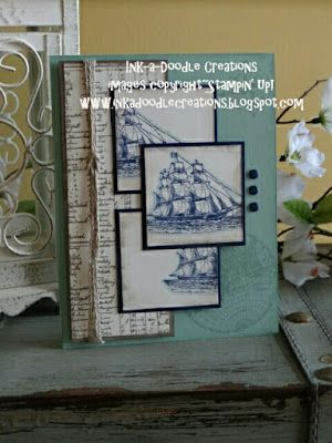 Ink-a-Doodle Creations, stampin up by the tide, masculine. ssink