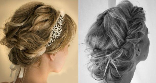 Beautiful curly messy hairstyle updos for prom with braids and embellished headband. updo prom hair 2014 prom updo hairstyles 2014 #prom2014 #promupdos