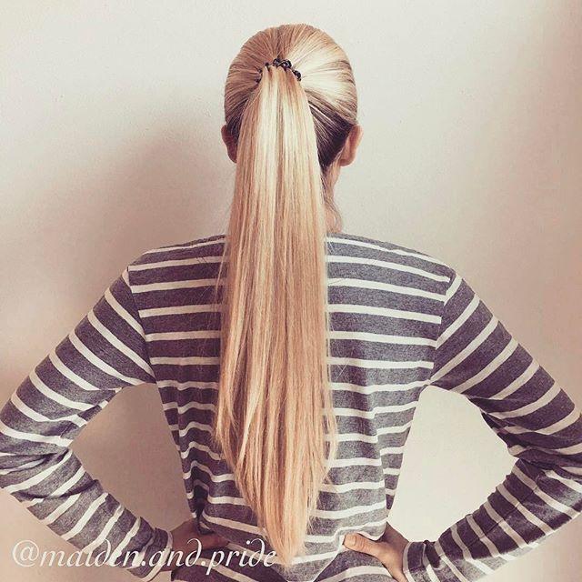 Logra una #Ponytail sin jalones #LongHair #Blonde #Hairstyle #Invisibobble