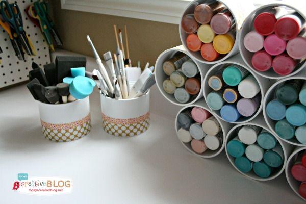 Craft Paint Storage   TodaysCReativeBlog.net
