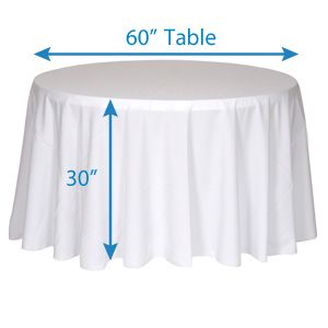 "Wholesale Event Solutions - 120"" Round Tablecloths, $29.90 (http://www.eventswholesale.com/120-round-tablecloths/)"