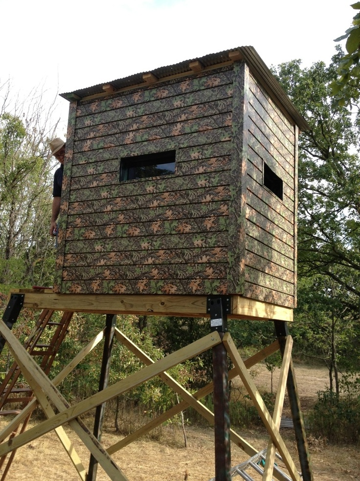 13 best camo siding images on pinterest camo camouflage for Elevated hunting blind designs
