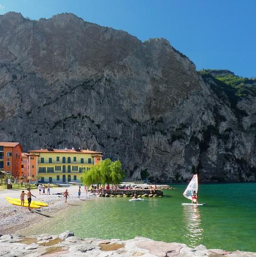 Windsurfing at Lake Garda - Italy