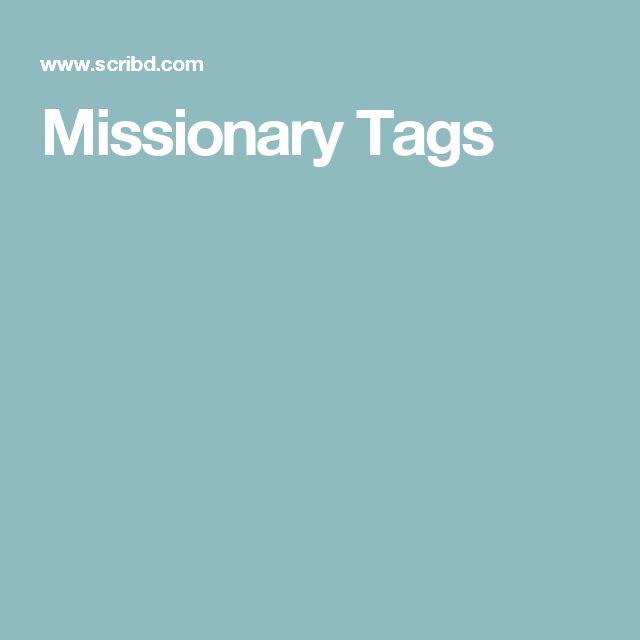 Missionary Tags