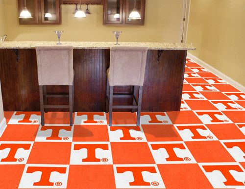 Tennessee Vols Man Cave Ideas : University of tennessee team carpet tiles carpets home