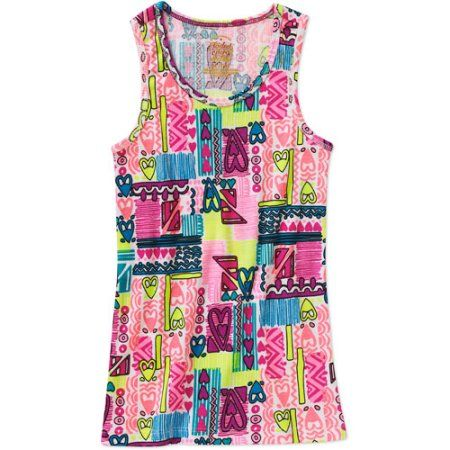 Faded Glory Fg Print Tank, Size: 4/5, Multicolor