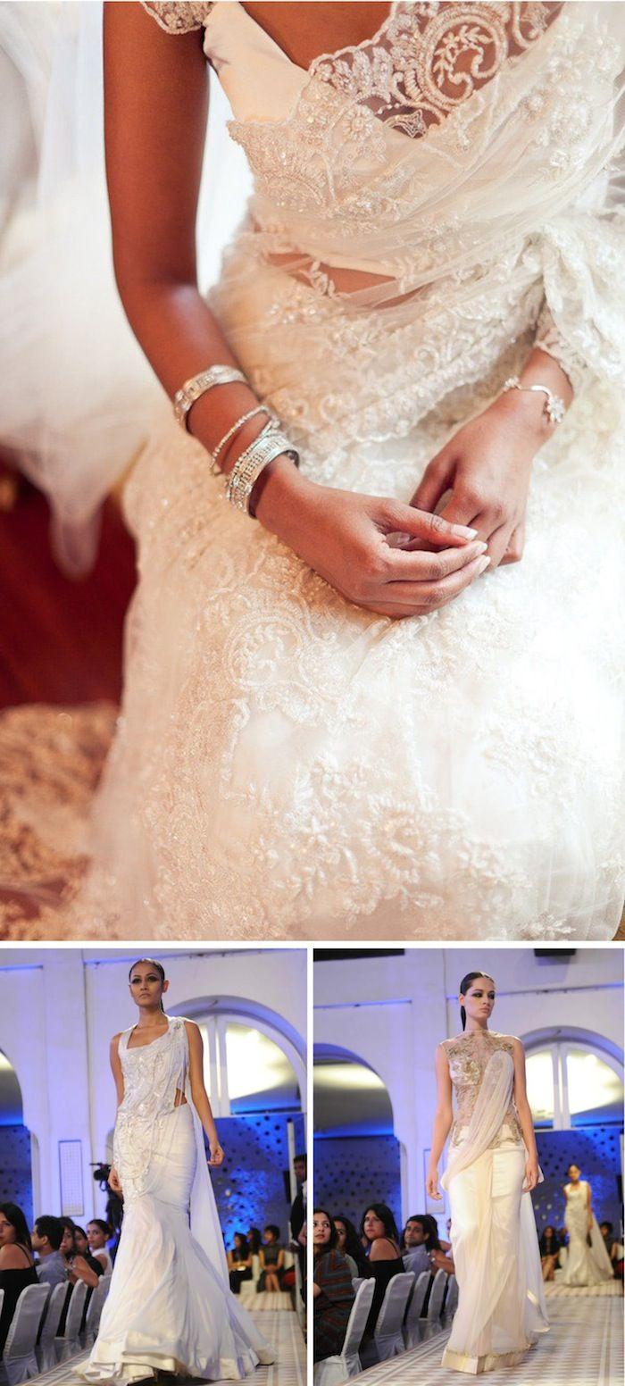 White Wedding Sarees