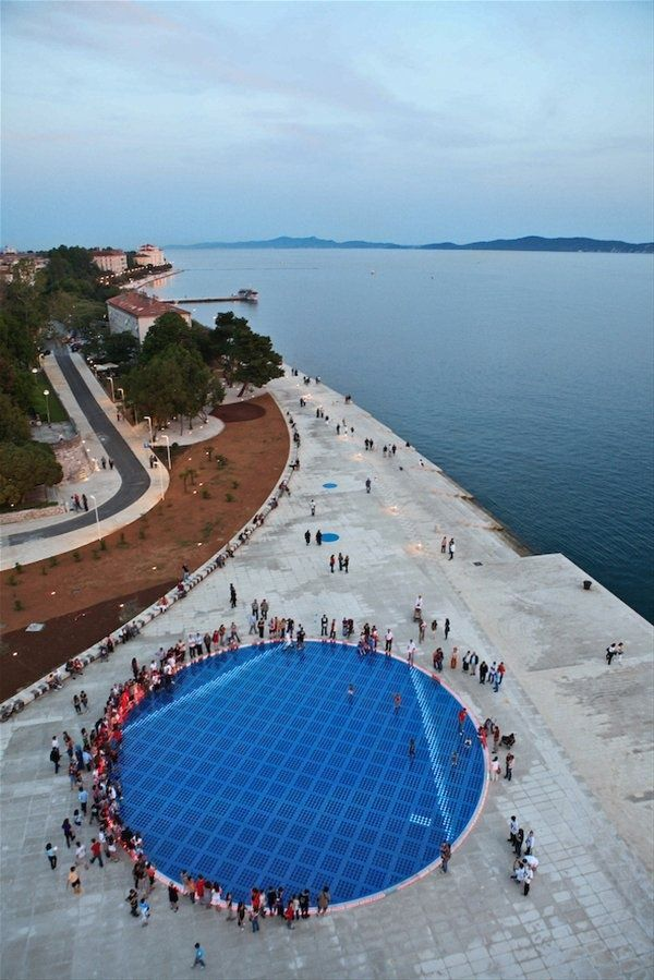 Sea Organ In Zadar Croatia The Sea Organ Is An Experimental Musical Instrument Which Plays Music By Way Of Sea Waves And Tubes Zadar Croatia Croatia Travel