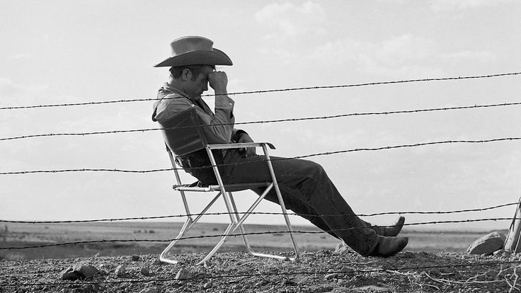 James Dean, 1955, photographed during the filming of Giant in Marfa, Texas