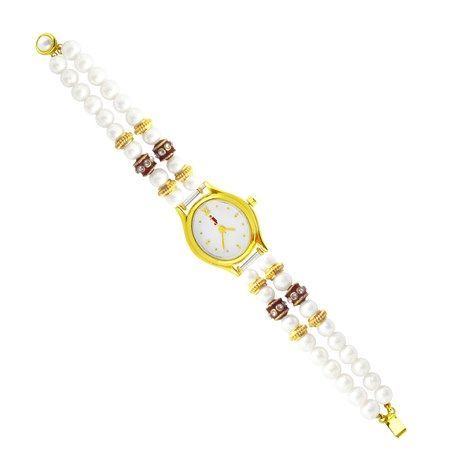 Jpearls Charming Button Pearl Watch