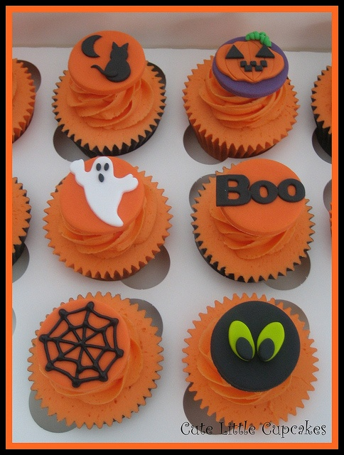 decoration inspiration for halloween cupcakes no recipe