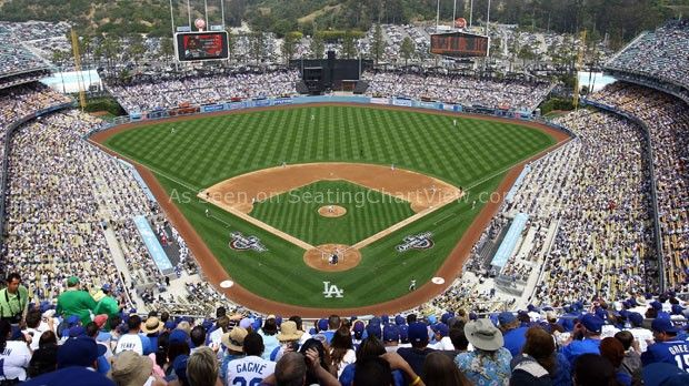 Dodger Stadium, Los Angeles CA - Seating Chart View - We have Tickets to all Dodger games!!