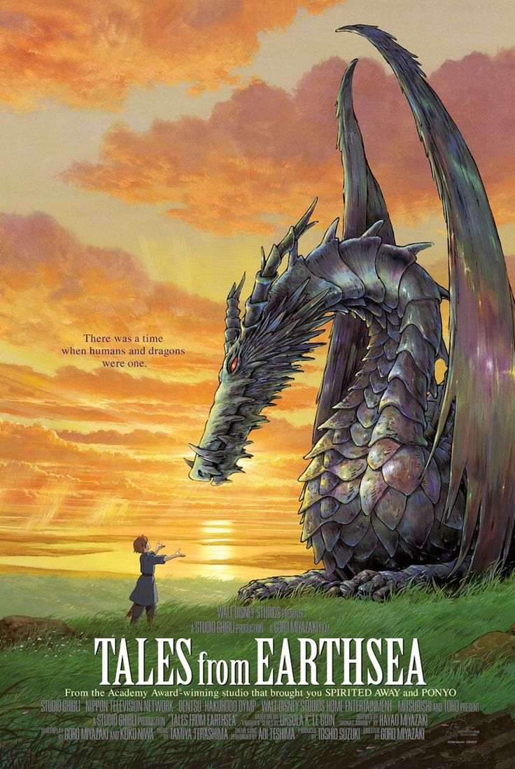 Tales from Earthsea - A movie with Dragons = Amazing! Even though you only see the dragons at the beginning and end of the Movie, its still a good story.
