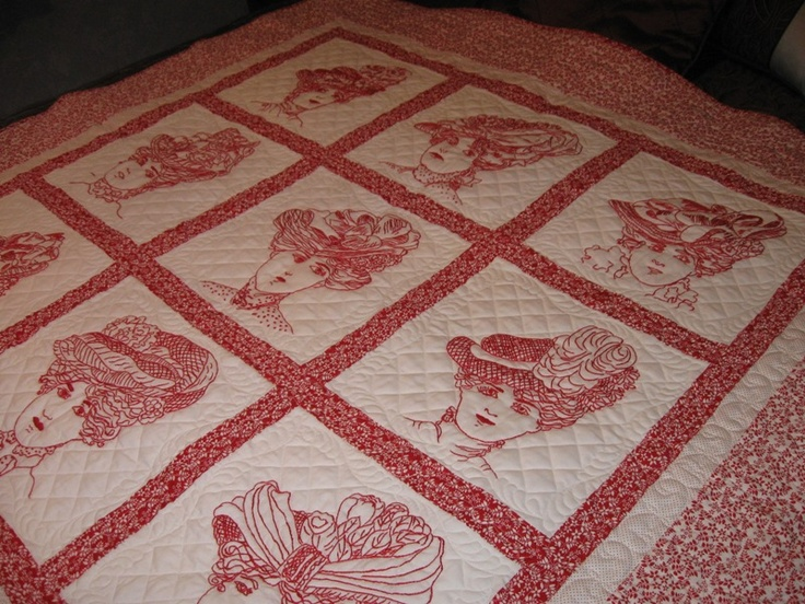 29 best Red work images on Pinterest | Embroidery, Embroidery ... : hand embroidery patterns for quilts - Adamdwight.com