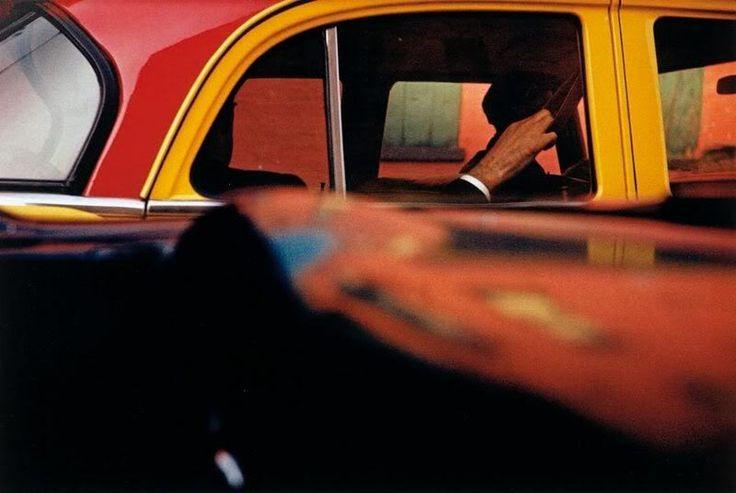 saul leiter, taxi 1957