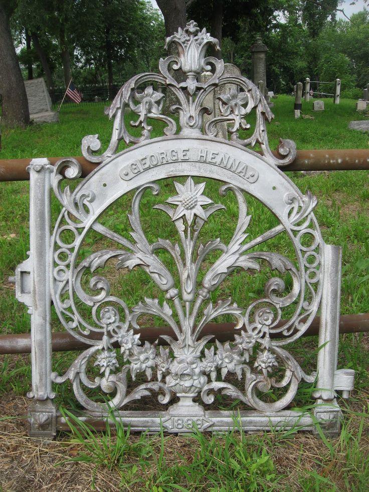 Victorian-era wrought iron marker; Mechanicsburg, Pennsylvania