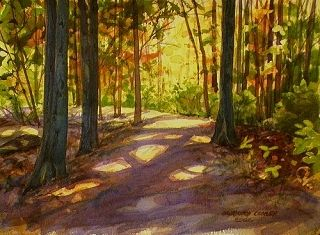 a whole website of watercolor painitng tutorials from begining to advanced  The Path Chosen - Watercolor © 2009 Gregory Conley