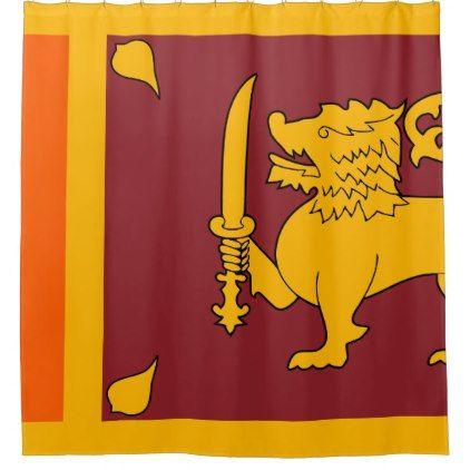 Sri Lanka Flag Shower Curtain - shower curtains home decor custom idea personalize bathroom