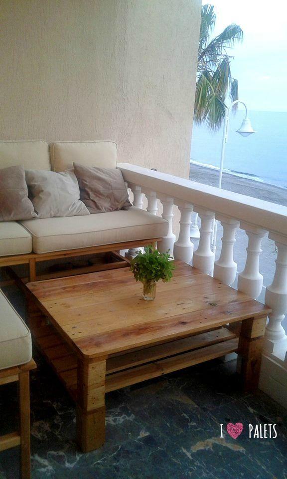 223 best mesas y mesas auxiliares de palets images on pinterest - Mesas de palets ...