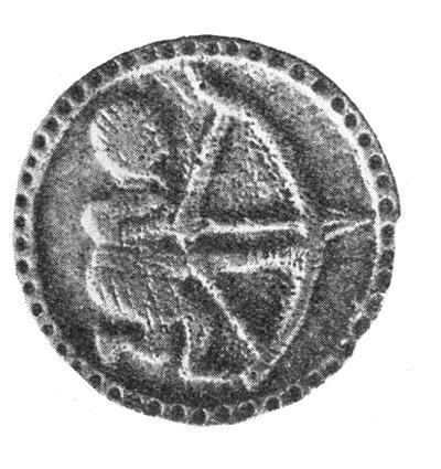 Lučištník z Mikulčic, pionek z Mikulczyc IXw, Great Moravia 9th