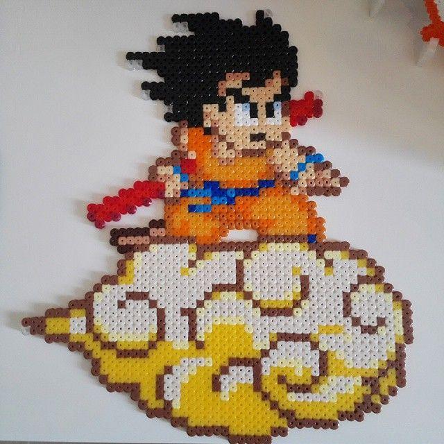 Dragon Ball hama beads by rainbow_ironed