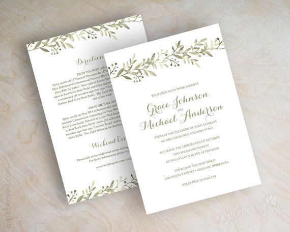 Botanical garden wedding invitations vineyard by appleberryink