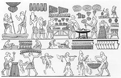 List of historical cuisines - Wikipedia Ancient Egyptian cuisine: the royal bakery. Tomb of Ramesses III, Valley of the Kings
