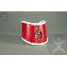 """Naughty Nurse Posture Collar: We have improved the classic design of a posture collar by using soft leather to improve the rolled edges. This helps to eliminate pressure point irritation and provides the wearer a more comfortable experience overall. This collar is 4.5"""" tall at the front and approximately 3.5"""" at the sides. It is constructed of thick real English Bridle Leather and is fully lined with thick soft leather."""