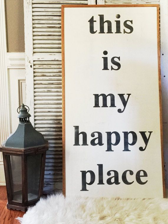 This is my happy place Handpainted 2x4 Wood Sign. Comes with two D-rings mounted on the back for hanging. We also can create custom signs for you.