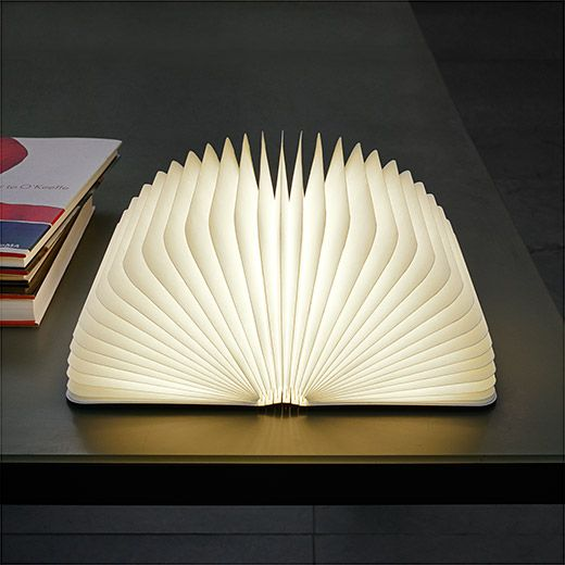 Lumio Book Lamp from the new Kickstarter at MoMA collection