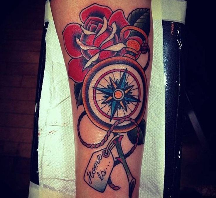 55 best tattoo traditional compass images on pinterest tattoo old school tattoo traditional. Black Bedroom Furniture Sets. Home Design Ideas