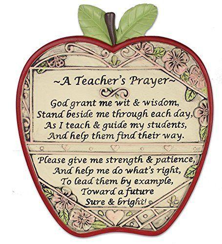 """Teacher Apple Plaque """"A Teacher's Prayer""""                                                                                                                                                                                 More"""