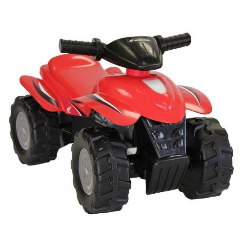 Tek Nek Honda Sport ATV - Red by Tek Nek. $21.90. Parental volume control. Features a realistic revving throttle with ATV sounds.. Authentic Honda detailing. Dash features cool light-up gauges with sound effects.. Rugged foot-to-floor ride-on. From the Manufacturer                Your little rider will kick up some dust with this rugged Honda ATV.  Featuring a realistic revving throttle with ATV sounds, this little foot-powered ATV will satisfy their need for speed!  Also inc...