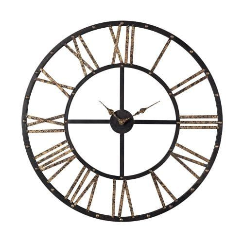 Sterling Industries 129-1024 28 Height Metal (Grey) Framed Roman Numeral Open Back Wall Clock