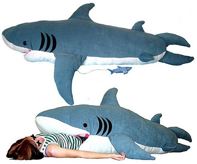 You'll be sleeping with the fishes with this shark sleeping bag. This sleeping bag also works well as a body pillow or as the most threatening weapon you can wield in a pillow fight, and makes a cool gift to compliment a shark week marathon sleepover party.