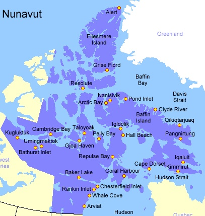 geography of nunavut territory