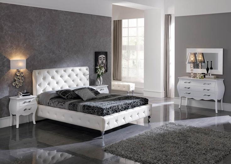 Camas tapizadas modelo NELLY. Decoracion Beltran, tu tienda de camas de madera en Internet. www.decoracionymadera.com