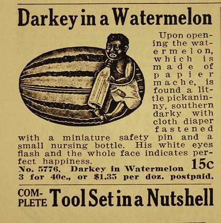 "If the use of ""darkey"" and ""watermelon"" aren't enough to make you cringe and feel ashamed of our white forebearers, they also use the word ""pickaninny""."