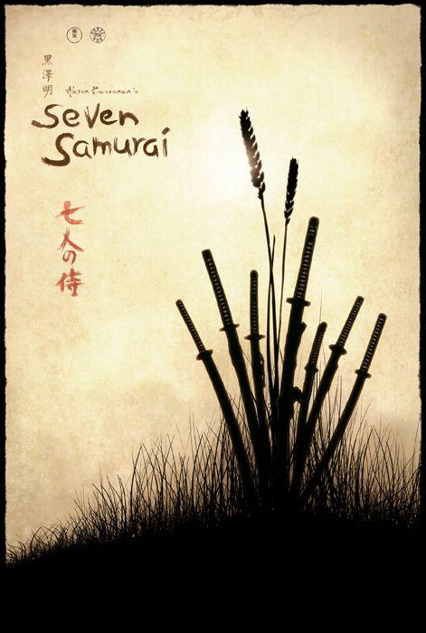Seven Samurai Movie Poster by TheMadmind.deviantart.com on @DeviantArt