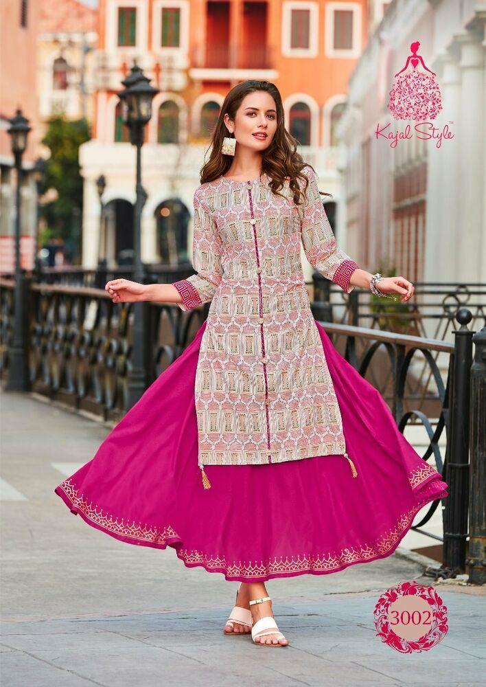 40ee1fc19084 Indian Bollywood Designer indo western gown Kurta Kurti women ethnic dress  -az02 #Handmade #kurta #casualpartywear