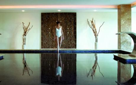 Thalasso Spa, Ibiza. we like this but think that this hot water pool looks like it might be to large.