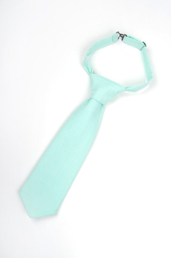 Mint necktie, mint tie, boys mint tie, toddler tie, baby tie, mint boys tie, ring bearer outfit, mint ring bearer tie, mint bridal party