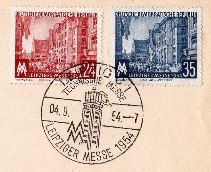DDR GERMANY 1954 LEIPZIGER MESSE LEIPZIG FDC Michel 433 - 434