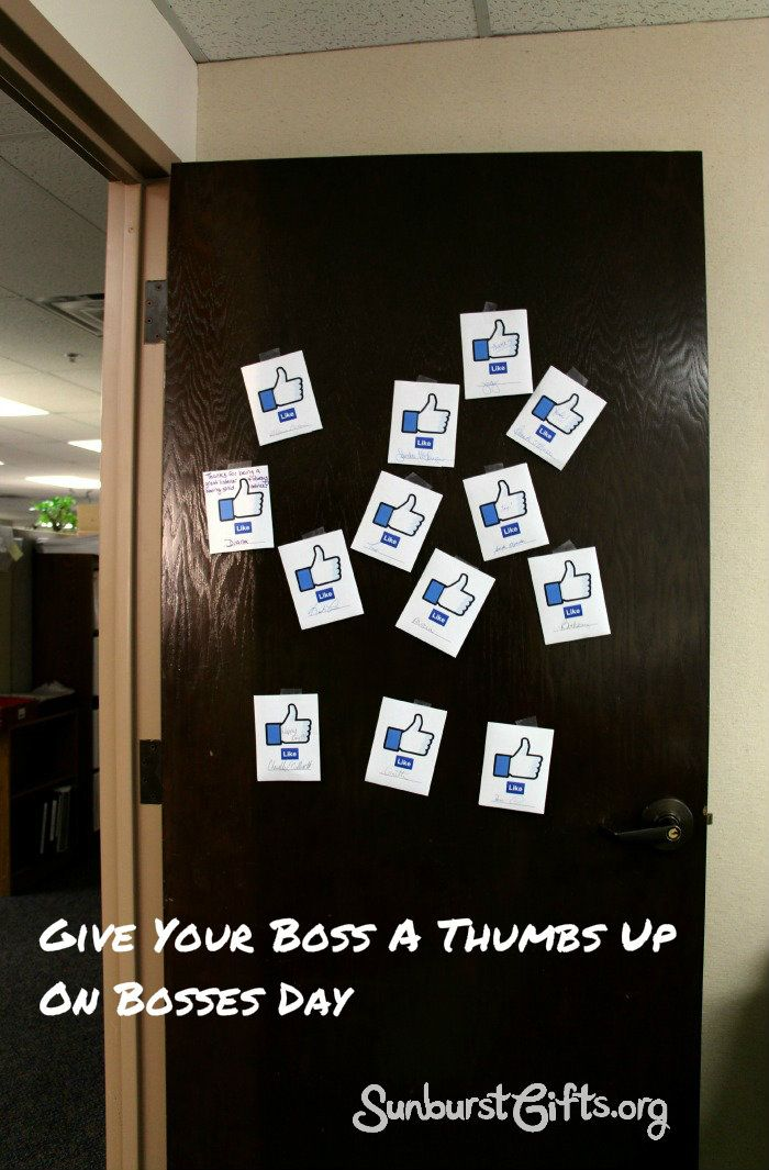 Give Your Boss a Thumbs Up On Bosses Day |  Fun way to get your entire office involved in appreciating their boss