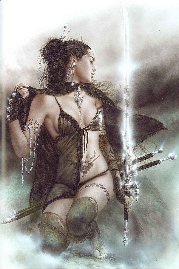 Fantasy figure gallery touch of ice - Fantasy female warrior artwork ...