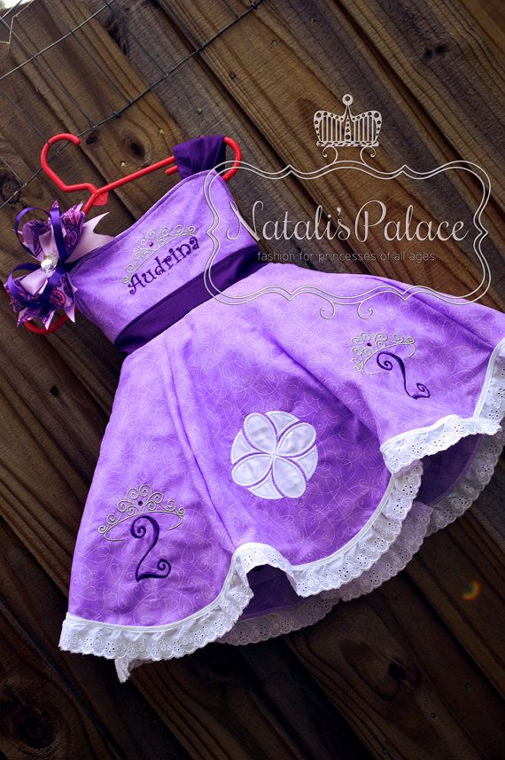 Princess Sofia the First Dress by NatalisPalace on Etsy $99 Sofia the first birthday #princessdress #sofiathefirst