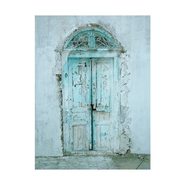 .la douleur exquise. found on Polyvore: The Doors, Window, Blue Doors, Rustic Doors, Shabby Chic, Colors, Beautiful Doors, Old Doors, Turquoi Doors