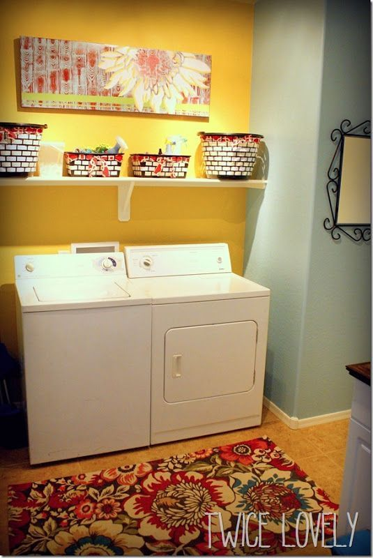 My new, bright and organized laundry room! #SamsungSpinCycle